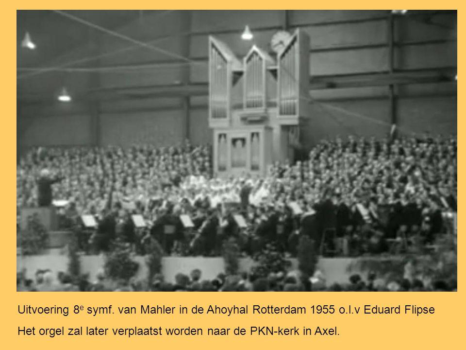 Uitvoering 8e symf. van Mahler in de Ahoyhal Rotterdam 1955 o. l
