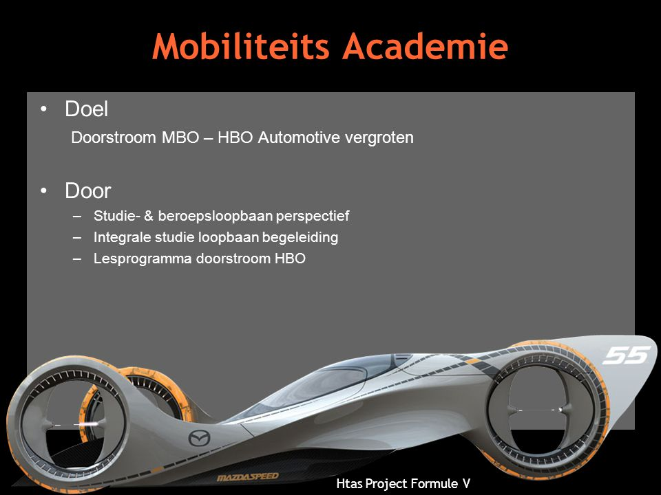 Mobiliteits Academie Doel Doorstroom MBO – HBO Automotive vergroten