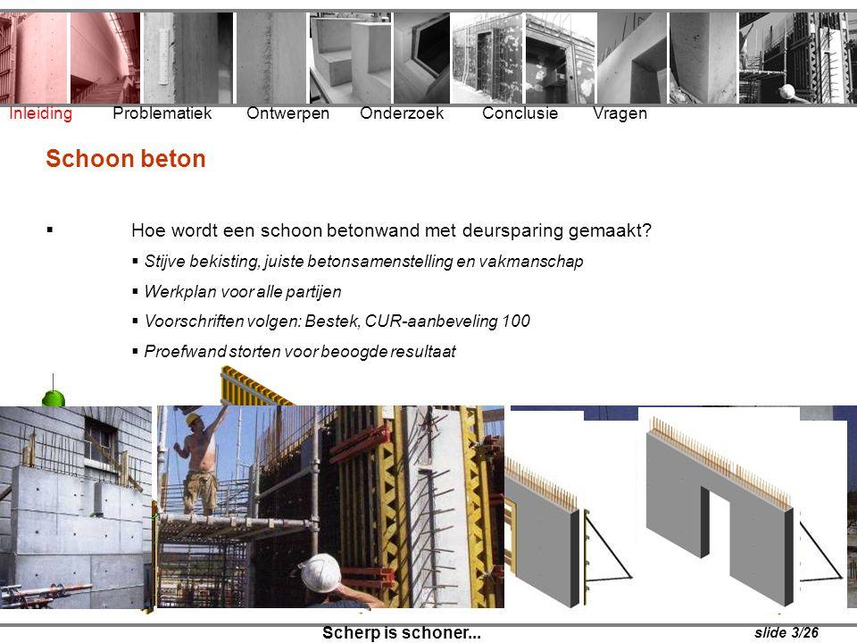 Schoon beton Hoe wordt een schoon betonwand met deursparing gemaakt
