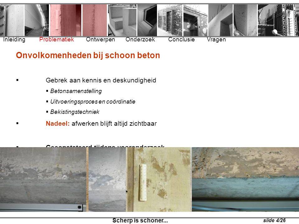 Onvolkomenheden bij schoon beton