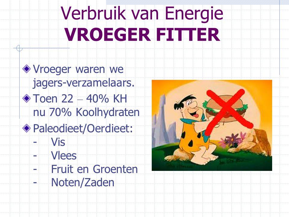 Verbruik van Energie VROEGER FITTER