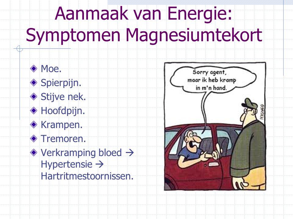 Aanmaak van Energie: Symptomen Magnesiumtekort