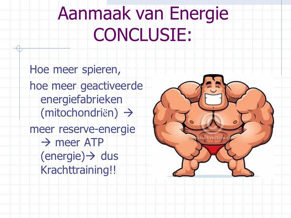 Aanmaak van Energie CONCLUSIE: