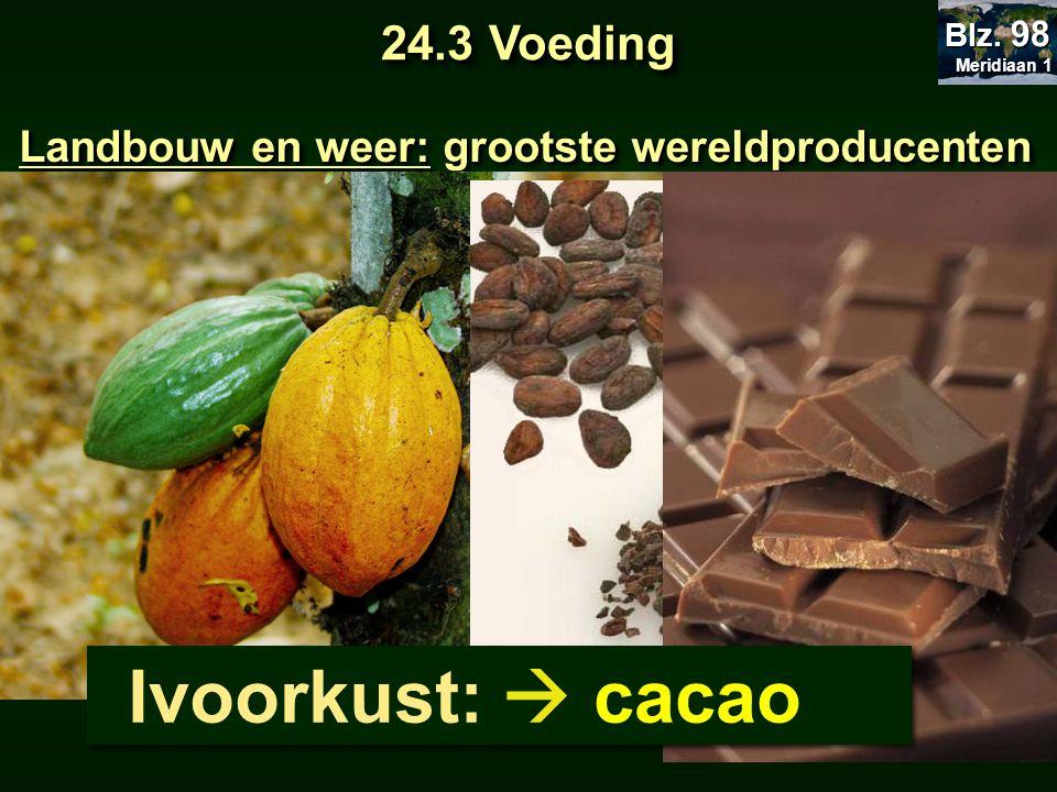 Ivoorkust:  cacao 24.3 Voeding
