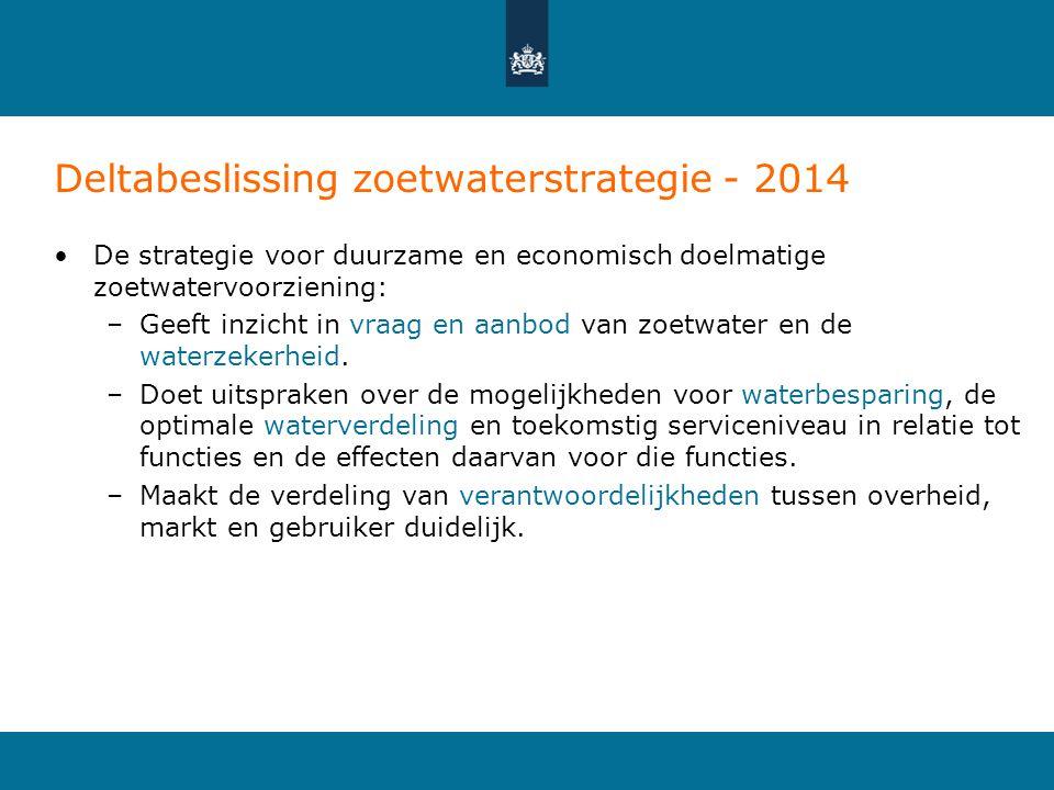 Deltabeslissing zoetwaterstrategie - 2014