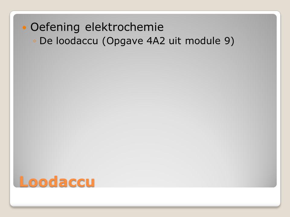 Oefening elektrochemie