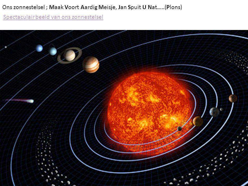 Ons zonnestelsel ; Maak Voort Aardig Meisje, Jan Spuit U Nat…..(Plons)