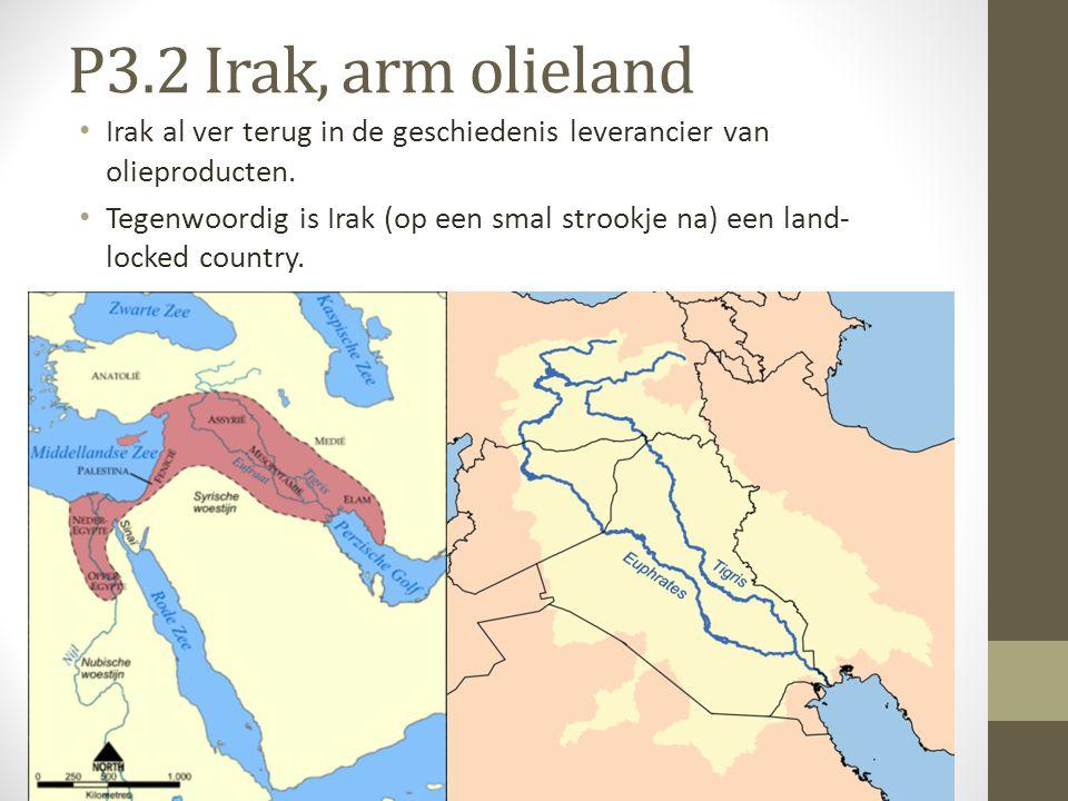 P3.2 Irak, arm olieland Irak al ver terug in de geschiedenis leverancier van olieproducten.
