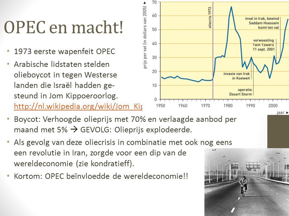 OPEC en macht! 1973 eerste wapenfeit OPEC