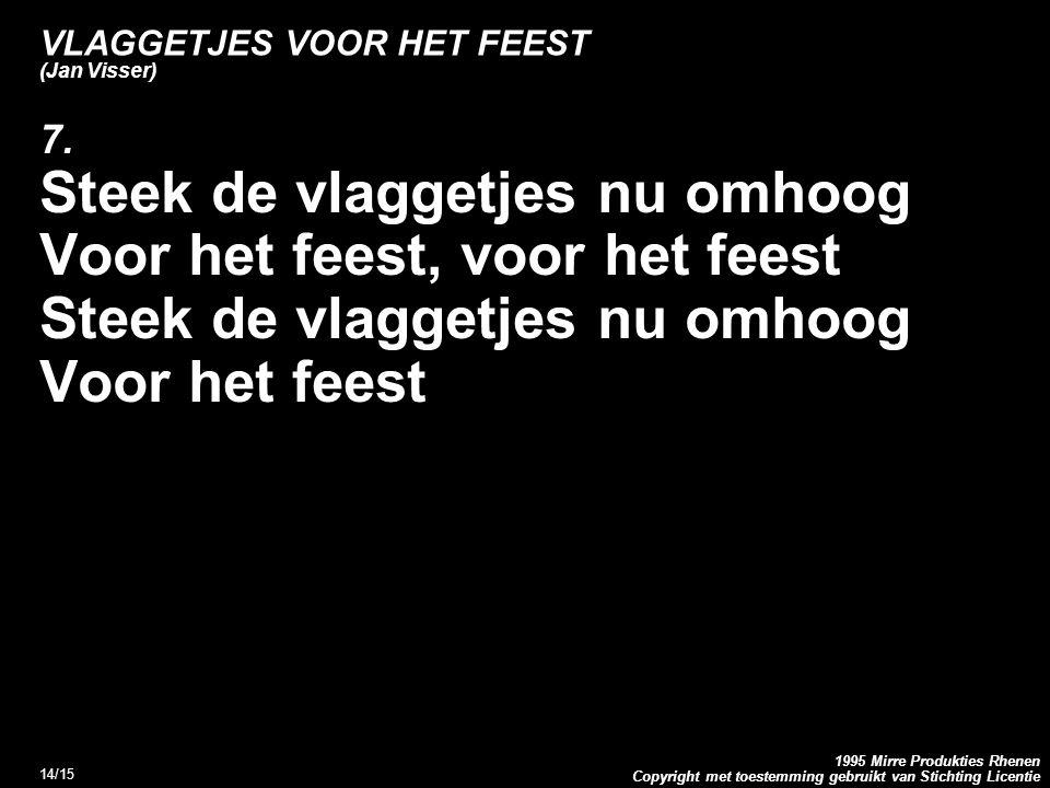 VLAGGETJES VOOR HET FEEST (Jan Visser)