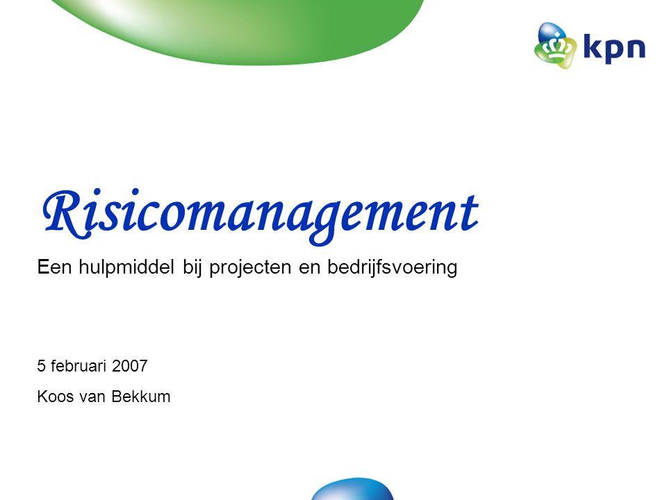 Doel van de workshop: Risicomanagement behoort tot onze standaard uitrusting.
