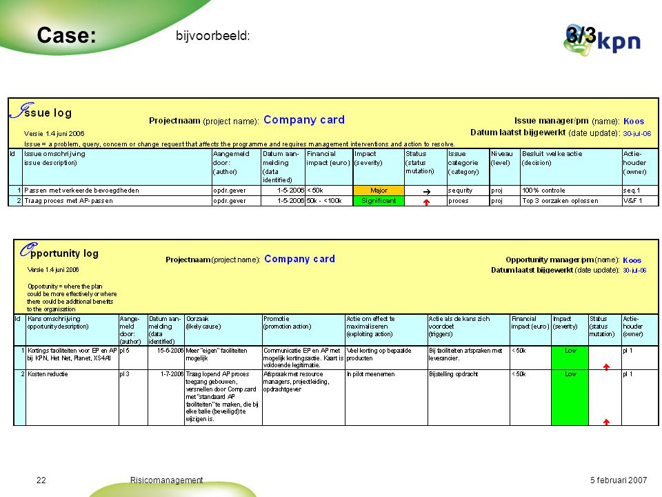 Conclusie: Risicomanagement en Projectmanagement horen bij elkaar