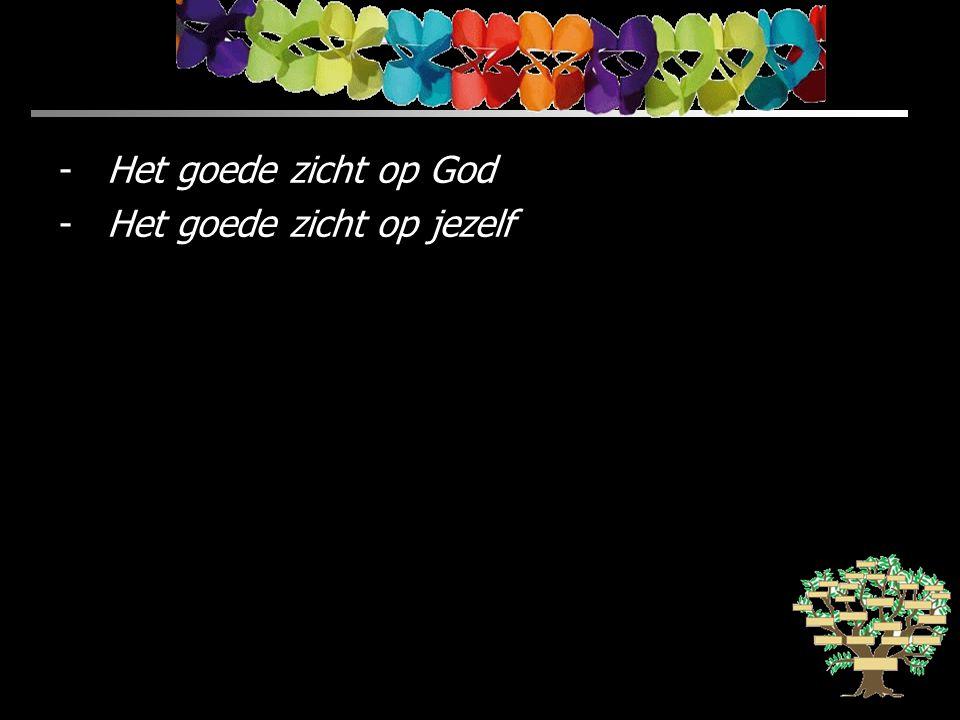 Het goede zicht op God Het goede zicht op jezelf