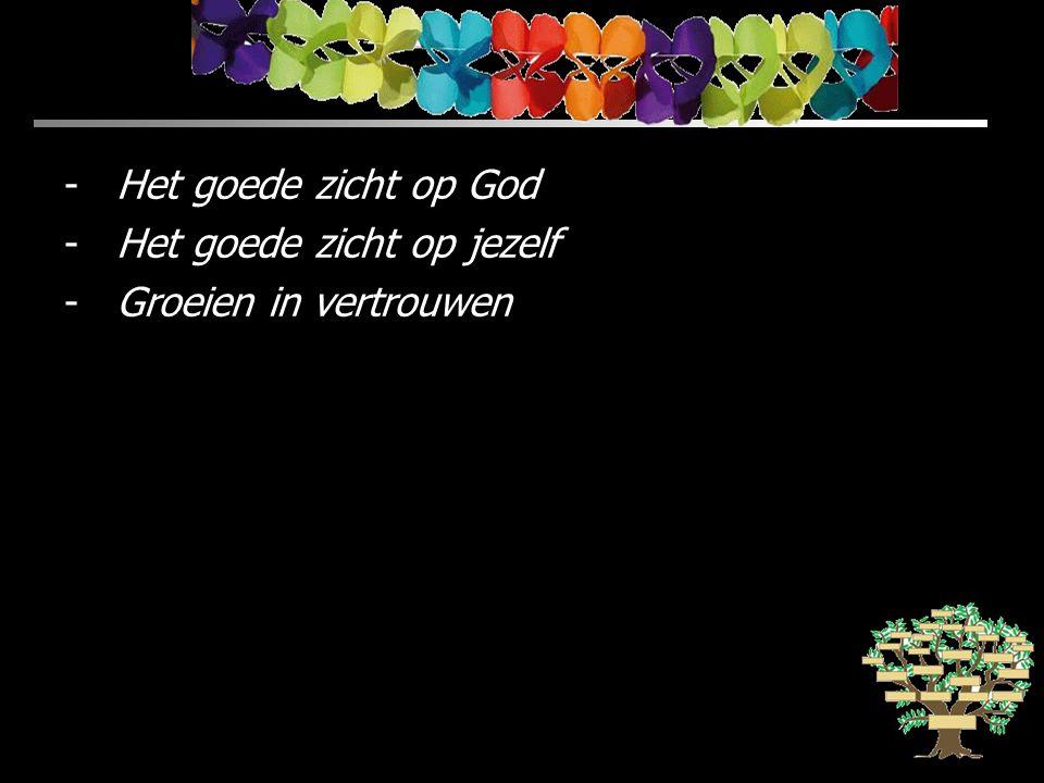 Het goede zicht op God Het goede zicht op jezelf Groeien in vertrouwen
