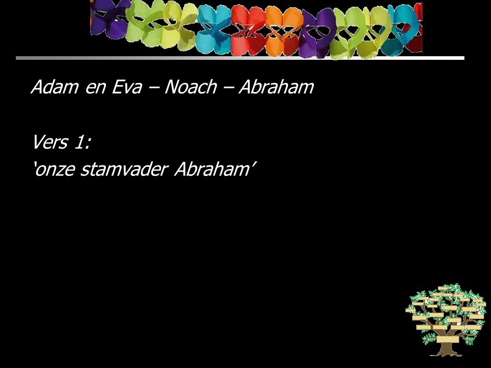 Adam en Eva – Noach – Abraham