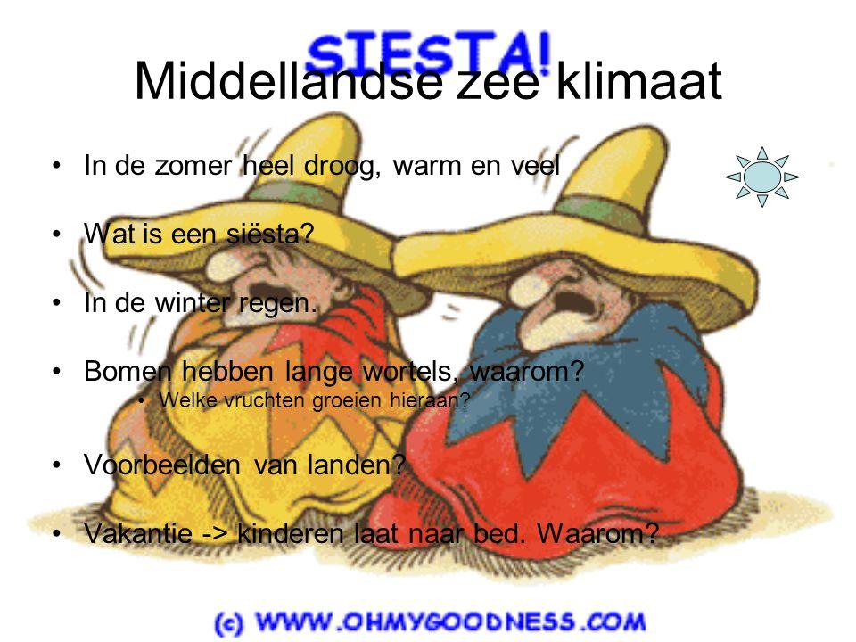 Middellandse zee klimaat