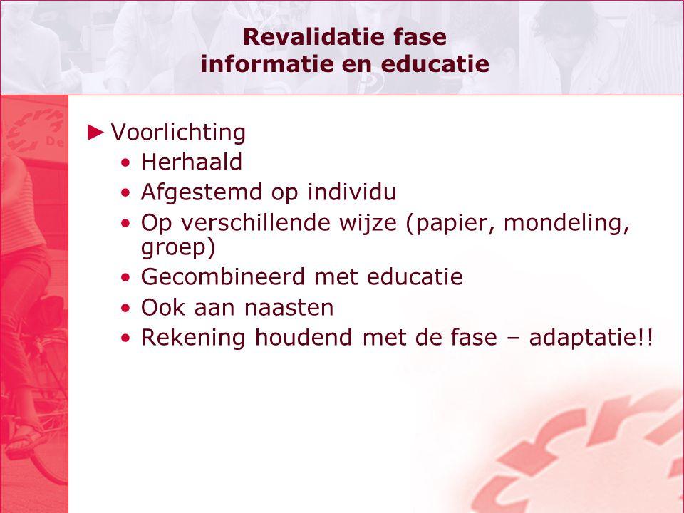 Revalidatie fase informatie en educatie