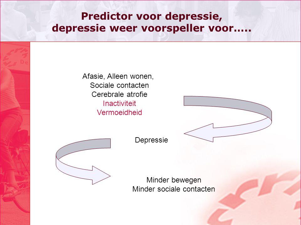 Predictor voor depressie, depressie weer voorspeller voor…..