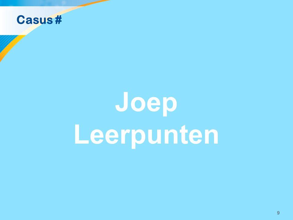 Casus # Joep Leerpunten