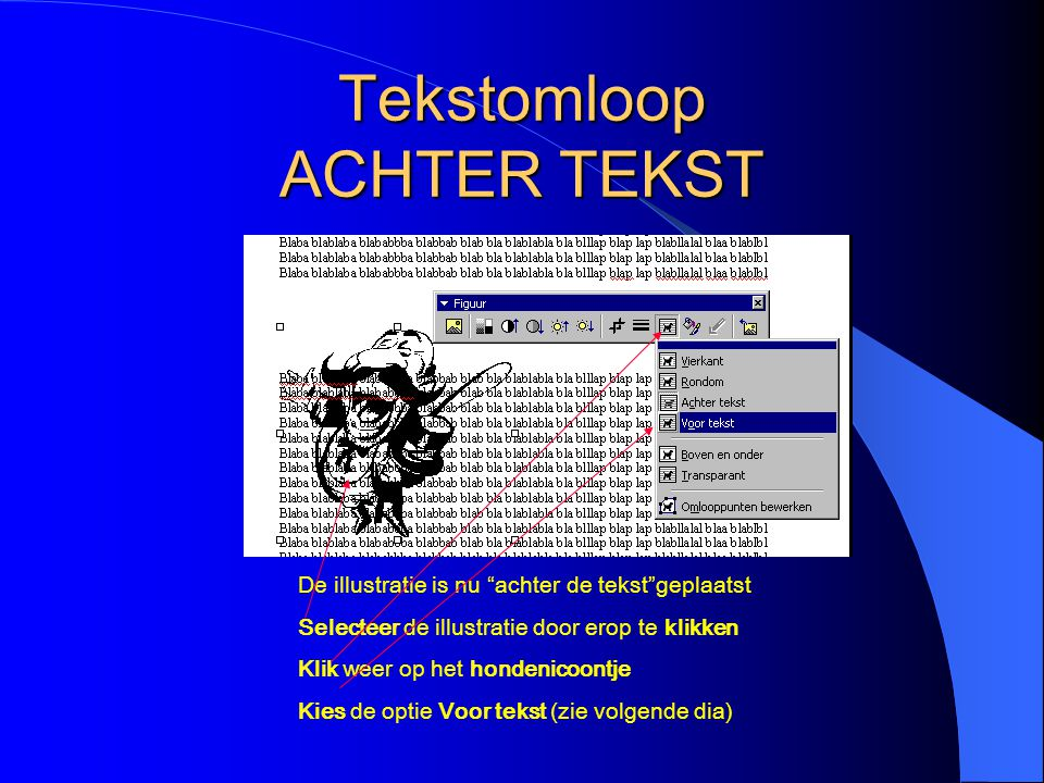 Tekstomloop ACHTER TEKST
