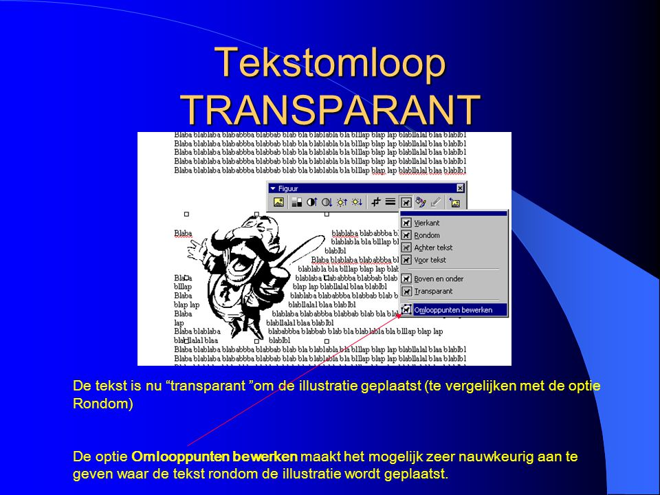 Tekstomloop TRANSPARANT