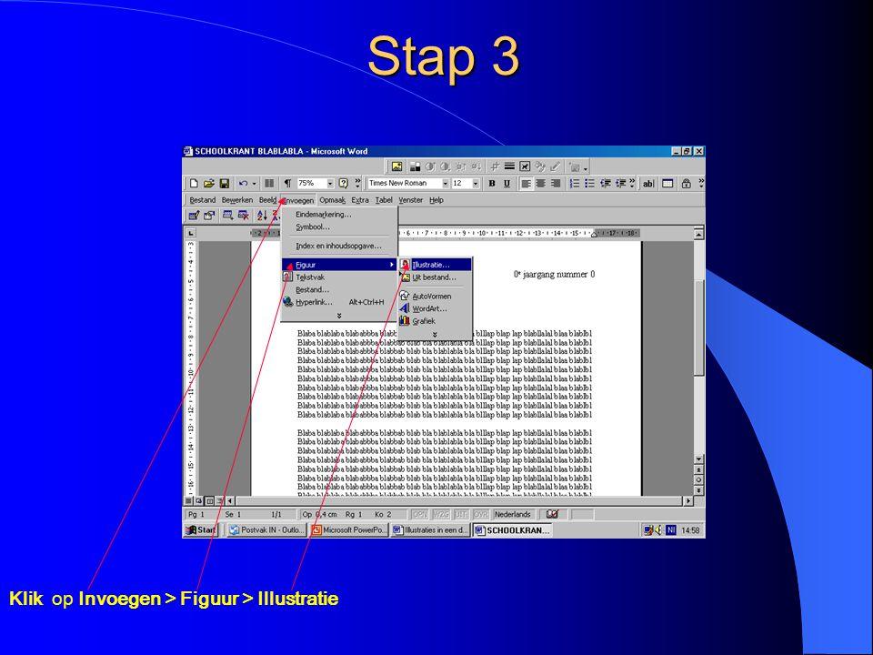 Stap 3 Klik op Invoegen > Figuur > Illustratie