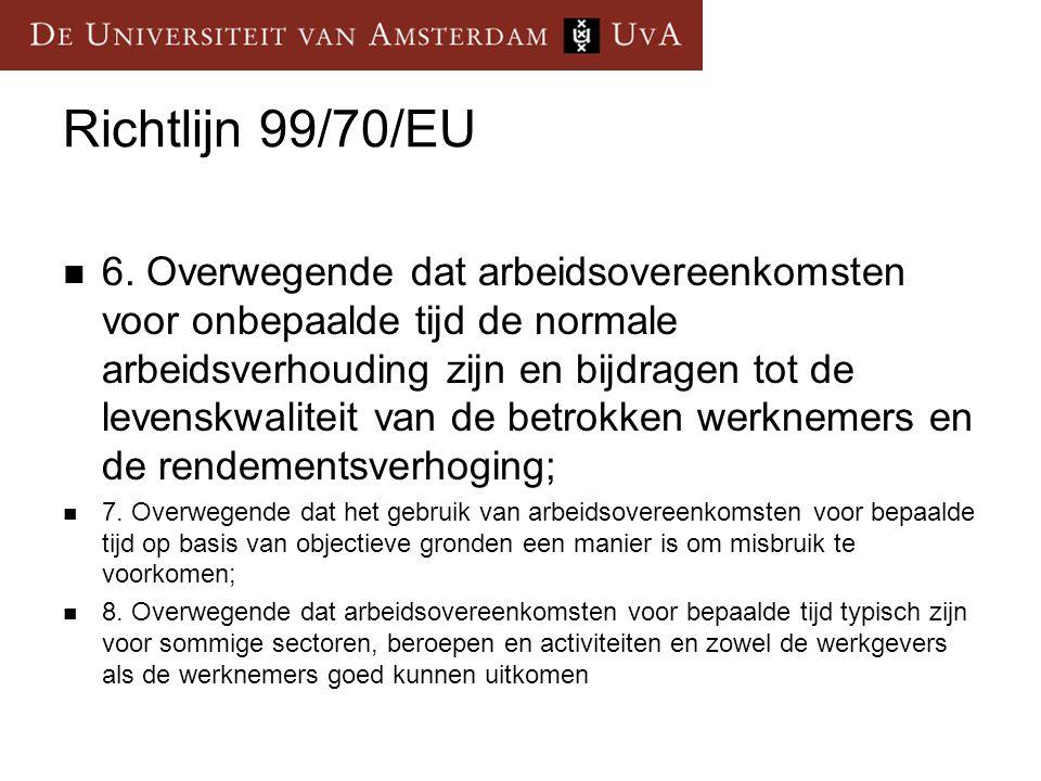 Richtlijn 99/70/EU