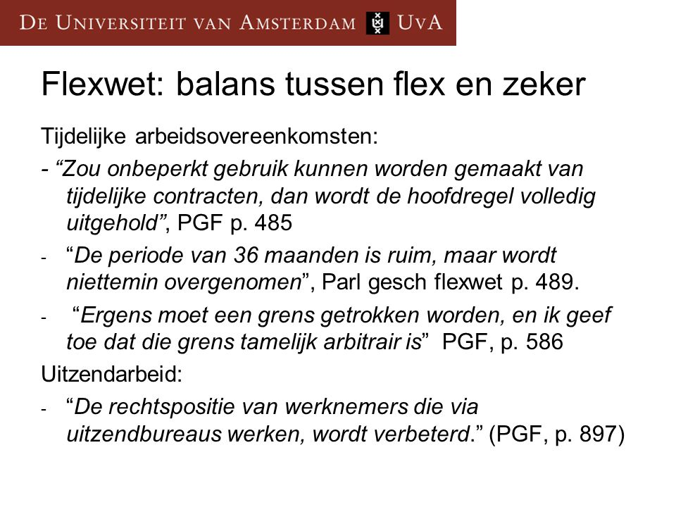 Flexwet: balans tussen flex en zeker
