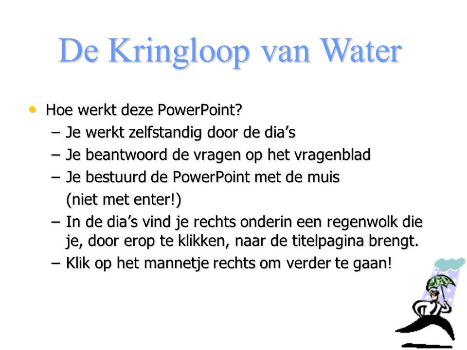De Kringloop van Water Hoe werkt deze PowerPoint