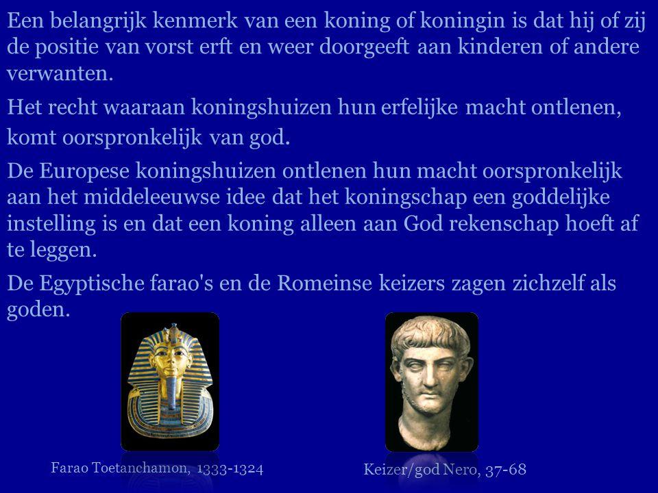 De Egyptische farao s en de Romeinse keizers zagen zichzelf als goden.