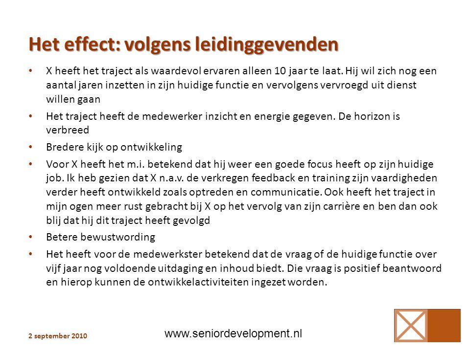 Het effect: volgens leidinggevenden