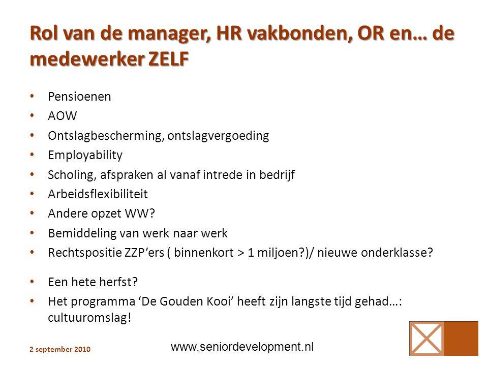 Rol van de manager, HR vakbonden, OR en… de medewerker ZELF