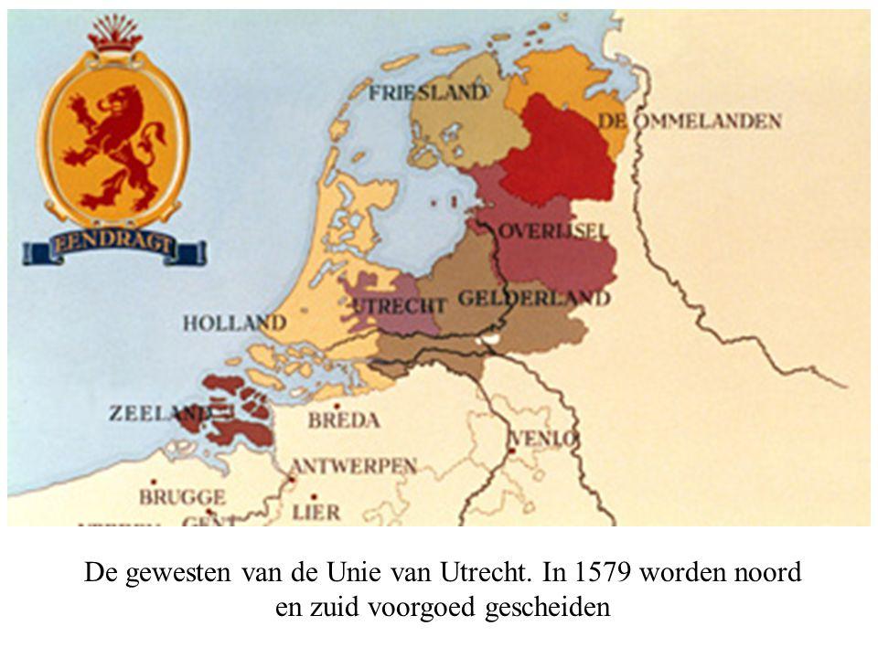 De gewesten van de Unie van Utrecht
