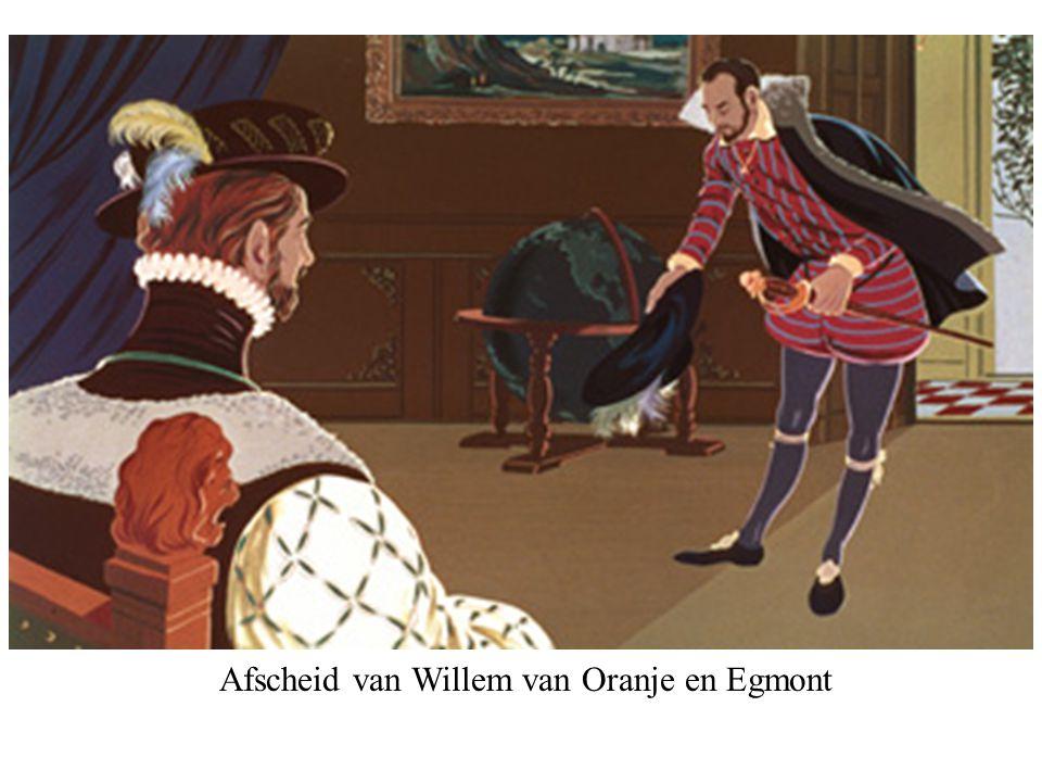 Afscheid van Willem van Oranje en Egmont