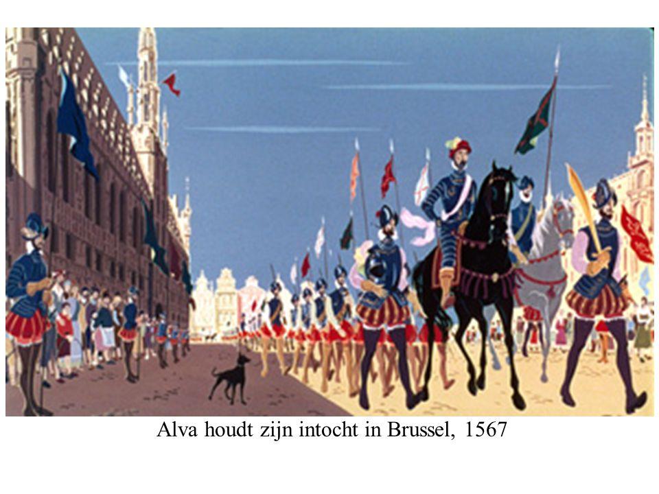 Alva houdt zijn intocht in Brussel, 1567