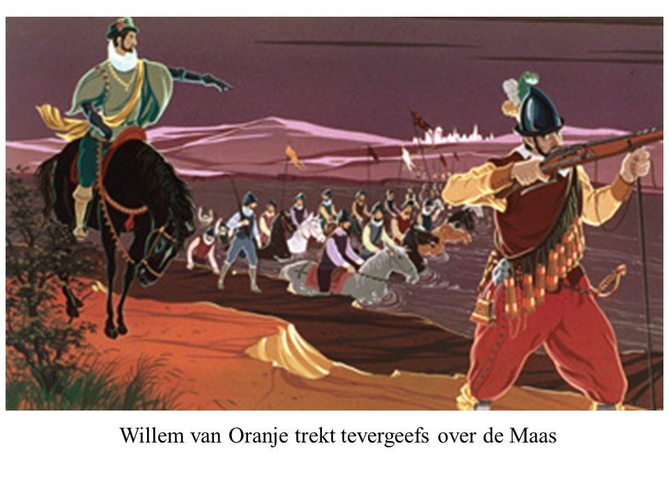 Willem van Oranje trekt tevergeefs over de Maas