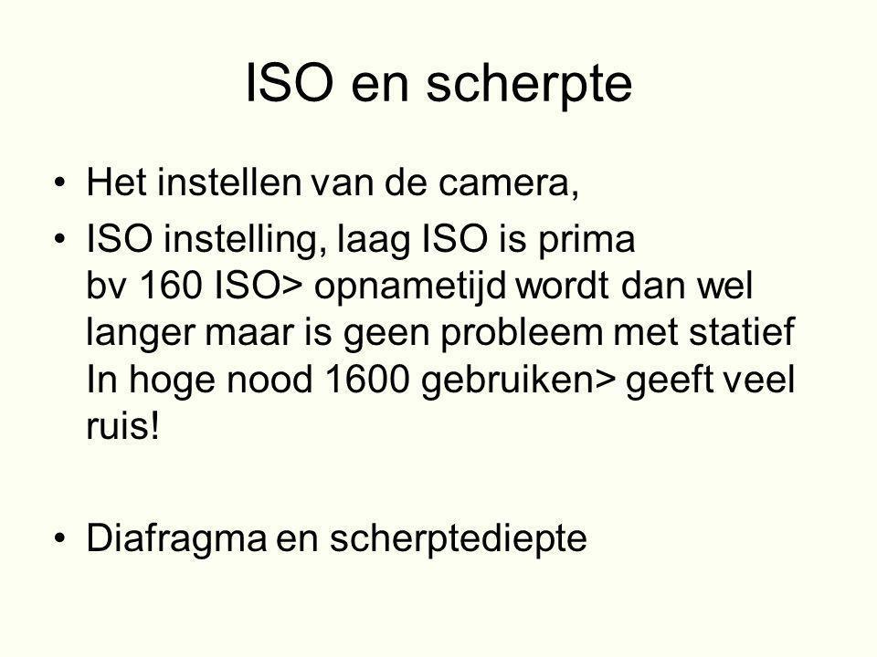 ISO en scherpte Het instellen van de camera,