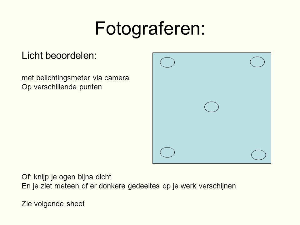 Fotograferen: Licht beoordelen: met belichtingsmeter via camera