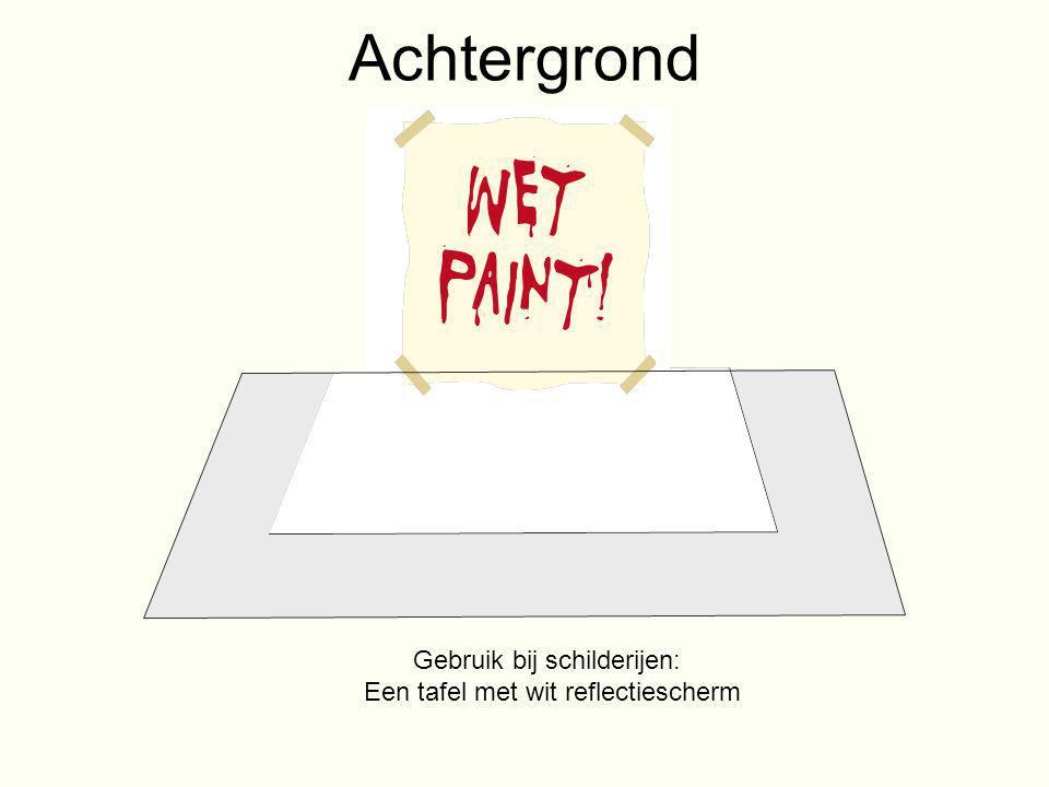 Achtergrond Gebruik bij schilderijen: