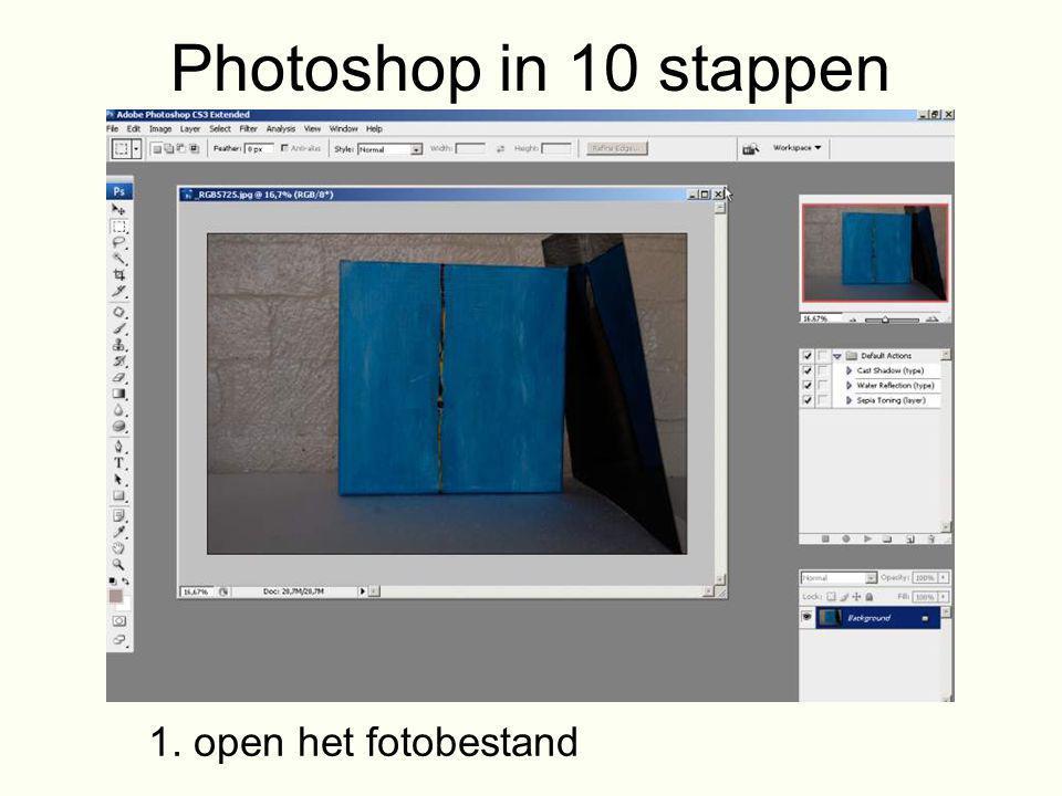 Photoshop in 10 stappen 1. open het fotobestand