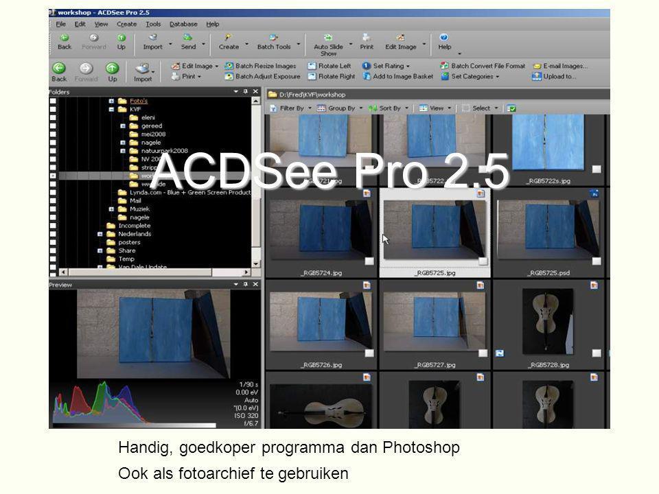 ACDSee Pro 2.5 Handig, goedkoper programma dan Photoshop