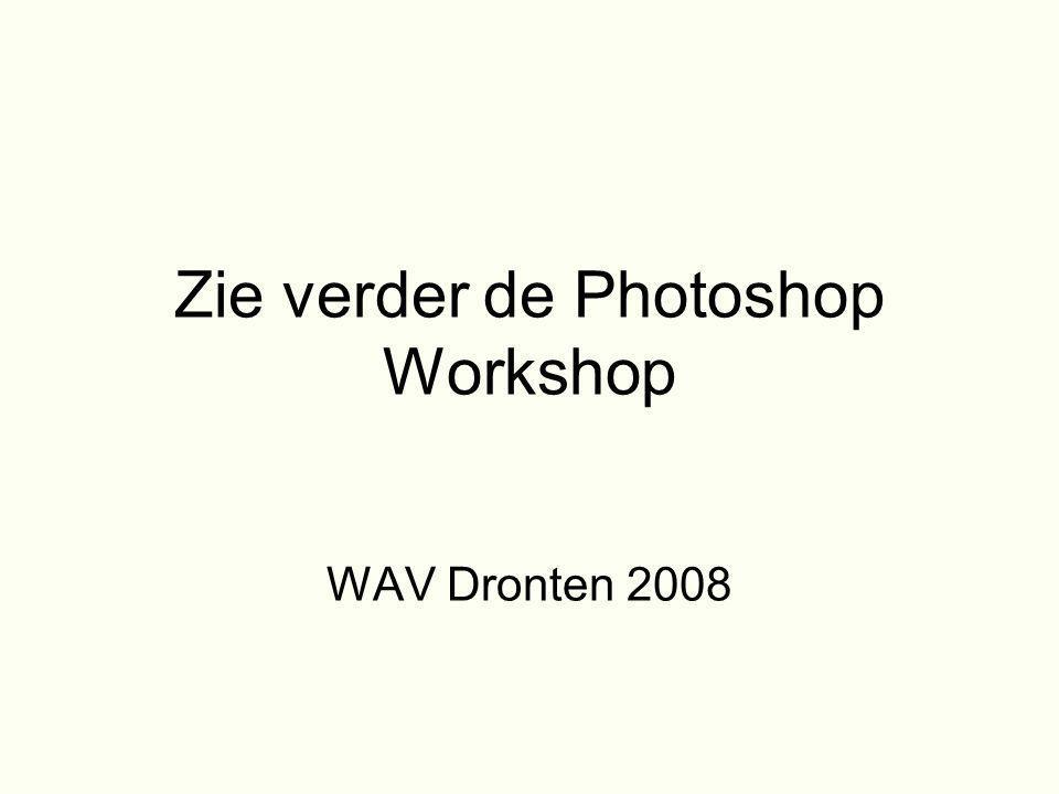 Zie verder de Photoshop Workshop