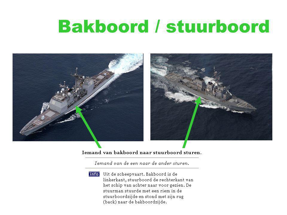 Bakboord / stuurboord