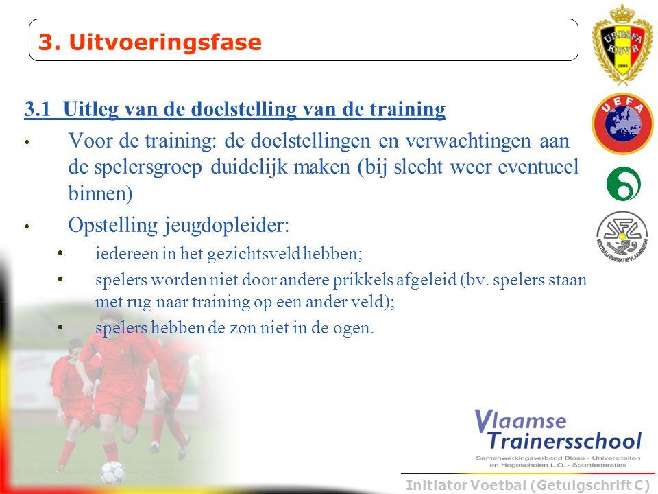 3.1 Uitleg van de doelstelling van de training