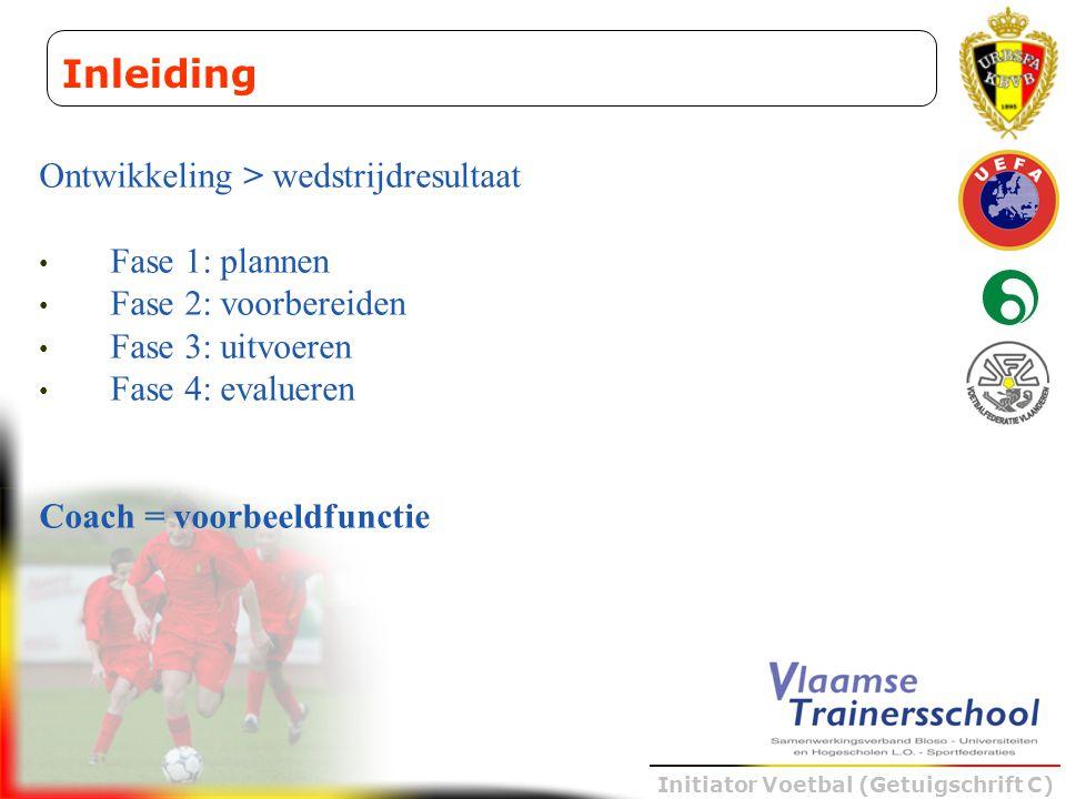 Inleiding Ontwikkeling > wedstrijdresultaat Fase 1: plannen
