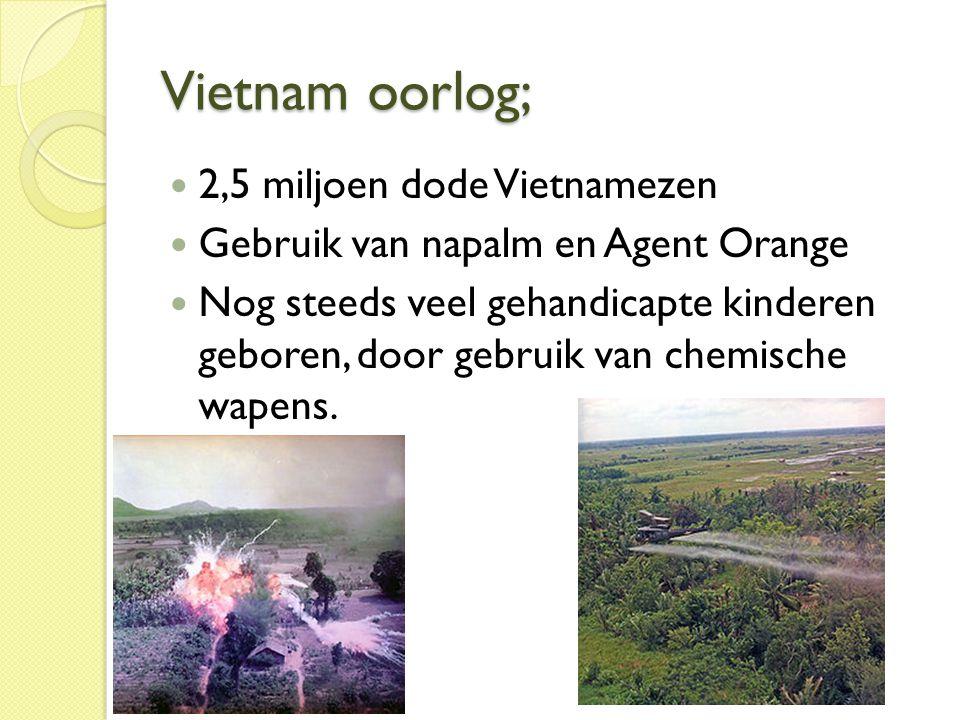 Vietnam oorlog; 2,5 miljoen dode Vietnamezen