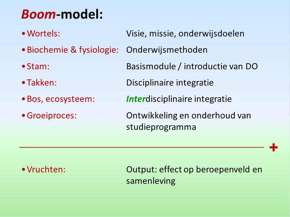 + Boom-model: Wortels: Visie, missie, onderwijsdoelen