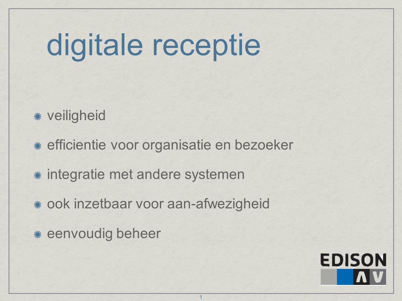 digitale receptie veiligheid efficientie voor organisatie en bezoeker