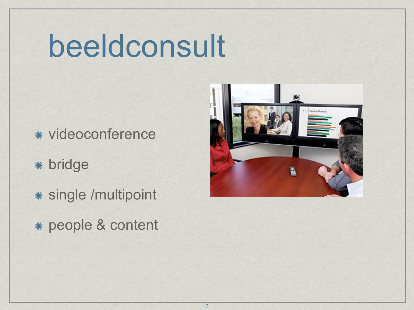 beeldconsult videoconference bridge single /multipoint