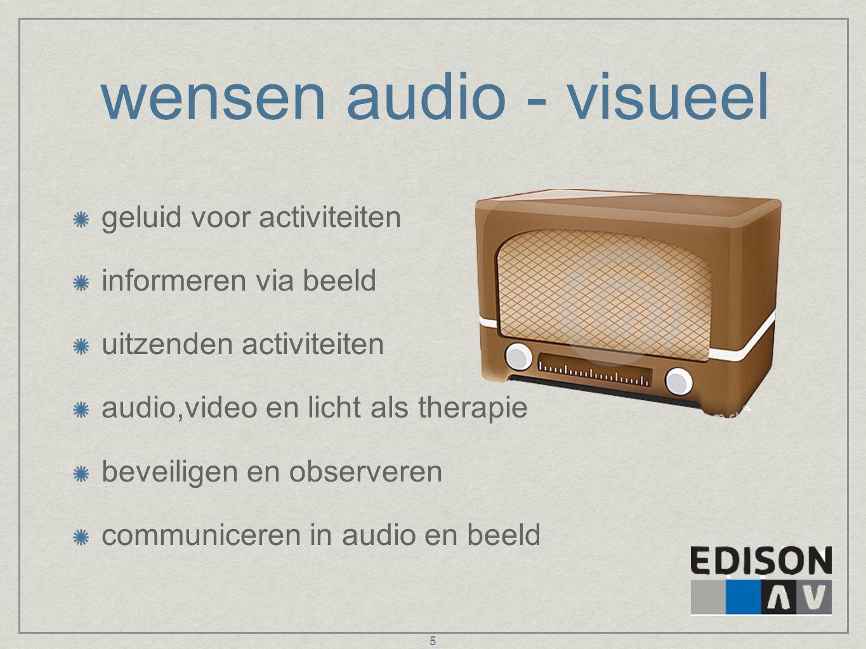 wensen audio - visueel geluid voor activiteiten informeren via beeld